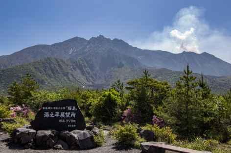 L'inquiétant volcan Sakurajima - Japon -