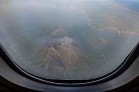 Survol du volcan Sakurajima - Japon -