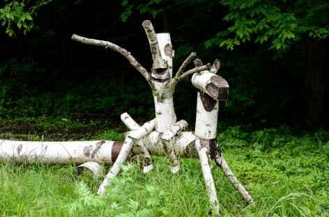 Sculpture en bois ! Alpes Japonaises - Japon -