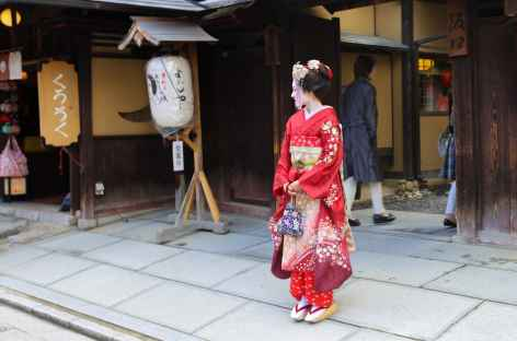 Geisha dans le centre historique de Kyoto - Japon -