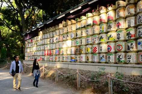 Dans les environs du sanctuaire shintoïste de Meiji Jingu, Tokyo - Japon -