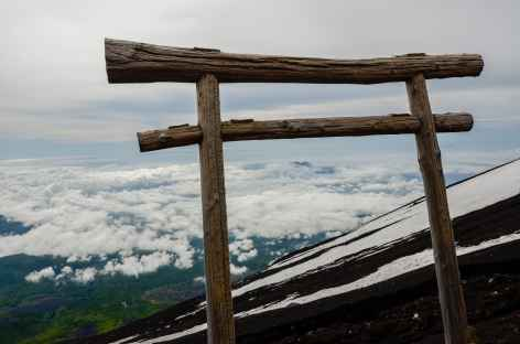 Torii au sommet du Mont Fuji - Japon -