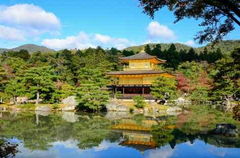 Temple de Kinkaku-ji ou Pavillon d'Or, Kyoto - Japon -