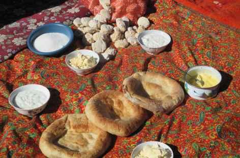 Pique nique nomade - Kirghizie -