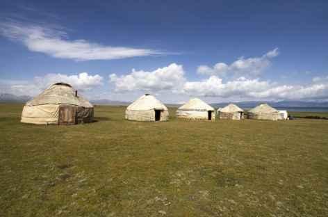Camp de yourtes à Song Kul - Kirghizie -