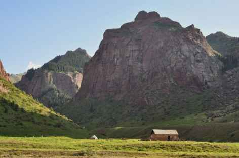 Paysage entre Song Kul et Chaek - Kirghizie -