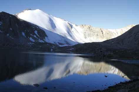 Lever de soleil aux lacs Kochkol - Kirghizie -