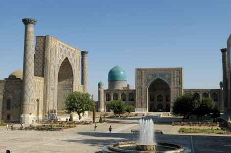 La place du Réghistan à Samarcande - Ouzbékistan  -