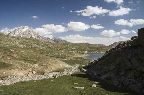 Vue sur les lacs Kochkol - Kirghizie -