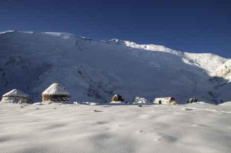 Camp I sous la face nord - Kirghizie -