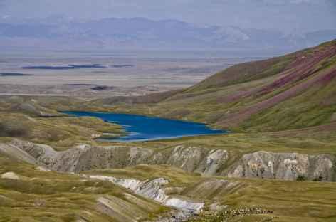 Lac Tougparkeul en redescendant du Camp I - Kirghizie -