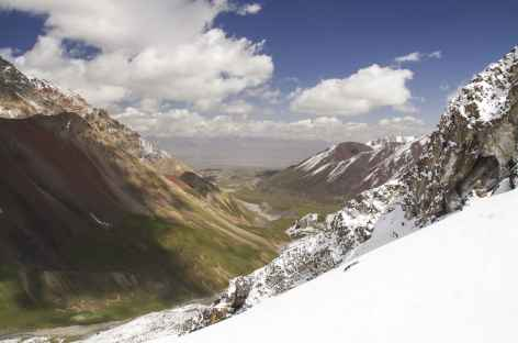 Vue vers le CB en descendant du camp I - Kirghizie -