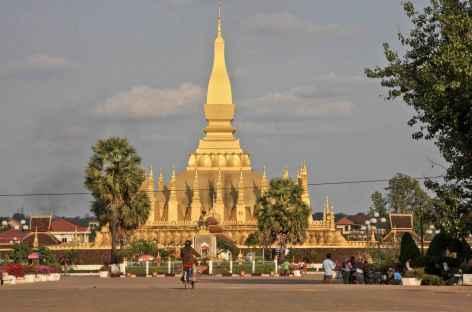 Le stupa de Pha That Luang à Ventiane - Laos -