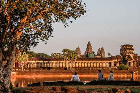 Coucher du soleil sur Angkor Vat - Cambodge -