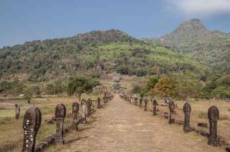 Arrivée sur le site angkorien de Vat Phu - Laos -