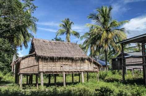 Maison traditionnelle dans les Ratanakiri - Cambodge -