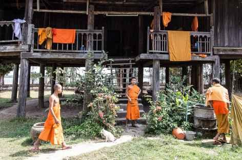 Rencontre avec des moines - Laos -