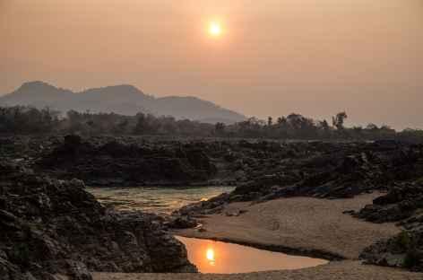 Coucher de soleil sur l'île de Don Khone - Laos -