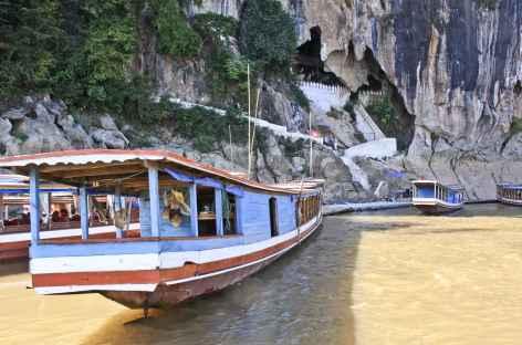 Arrivée à la grotte de Pak Ou - Laos -