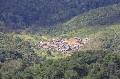 Première vision du village de Ban Nam Lo - Laos -