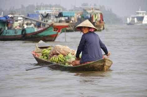 Marché flottant Delta Mekong - Vietnam -