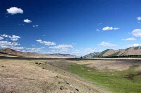 Paysage de steppe, Mongolie -