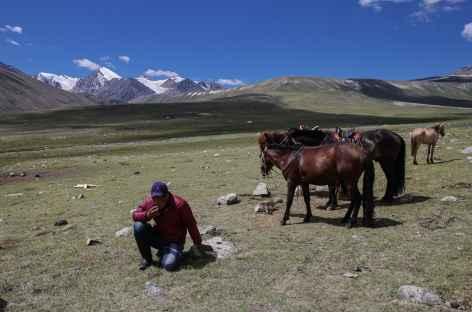 Glaciers du Turgen, au loin - Mongolie -