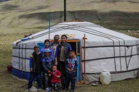 Famille mongole - Mongolie -