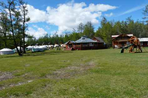 Camp de yourte, Mongolie -