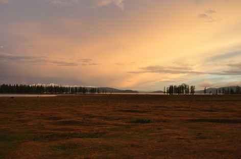 Coucher de soleil - Mongolie -