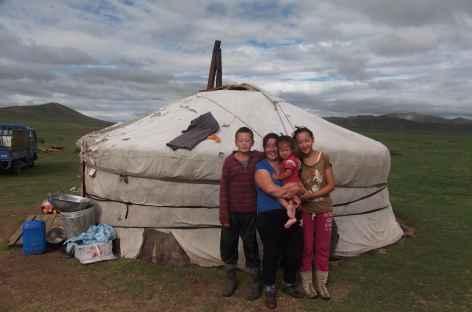Famille nomade, Mongolie -