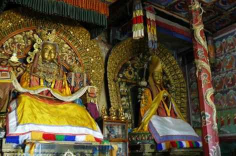 Intérieur d'un monastère, Mongolie -