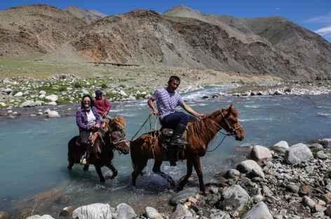 Passage de gué - Mongolie -