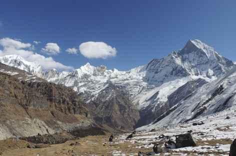 Vue sur la face est du Machapuchare - Népal -