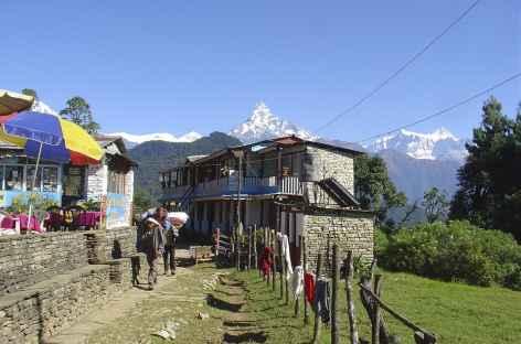 Traversée de village - Népal -