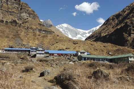 Lodge du camp de base du Machapuchare  - Népal -