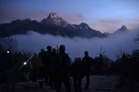 Départ matinal vers Muldai - Népal  -