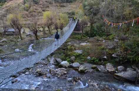Pont métallique près de Swanta - Népal -