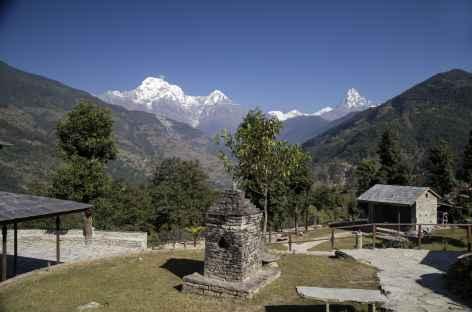 Vue du Lodge, Majagaon - Népal -
