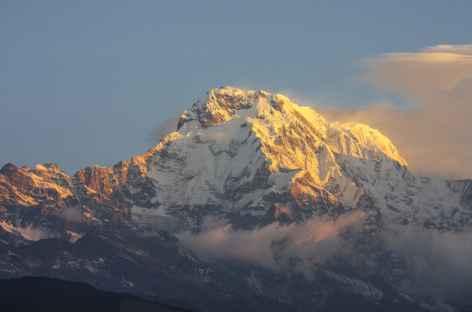 Vue sur l'Annapurna Sud, Népal -