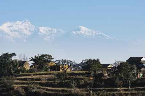 Vue des Manaslu de Bandipur - Népal -