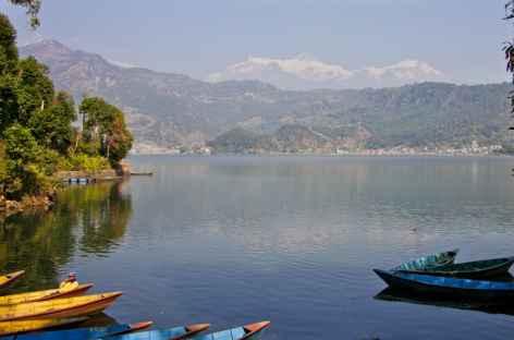 En arrivant sur le Lac Phewa à Pokhara - Népal -