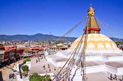 Vue du Stupa de Bodnath - Népal -