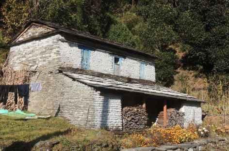 Architecture du sud  des Annapurna  - Népal -
