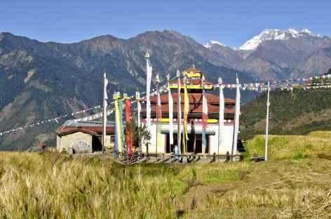 La gompa de Melamchi Gaon (Népal) -