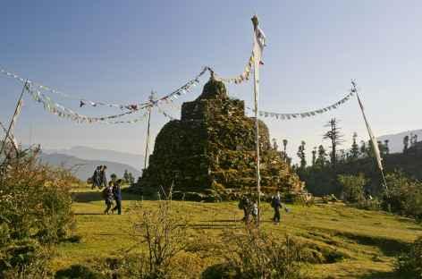 Chorten dans la vallée d'Helambu - Népal -