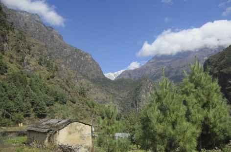 Au dessus de Phakding - Népal -