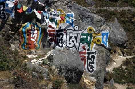 Dalle à mani - Népal -