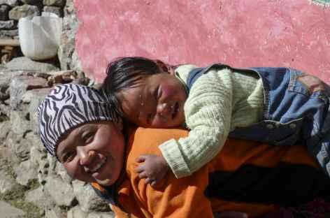 Scène de vie en pays sherpa - Népal -