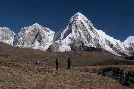 Le Pumori, vue avant l'arrivée à Gorak Chep - Népal -